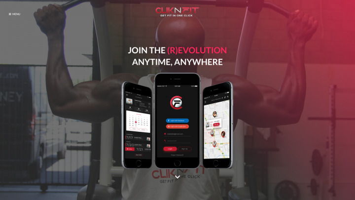 cliknfit web development